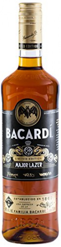 Bacardi Limited Edition Major Lazer Premium Gold Rum, 70 cl-Bacardi from Amazon