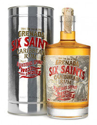 Six Saints Caribbean Rum in gift tin 70cl. 41.7% ABV-Six Saints from Amazon