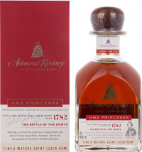 Admiral Rodney Rum - HMS Princessa Dark Rum-St Lucia Distillers from Amazon
